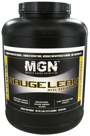 DROPPED: Muscle Gauge Nutrition - Gauge Lean Meal Replacement Fudge Brownie - 5 lbs.