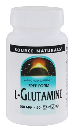 DROPPED: Source Naturals - L-Glutamine Free Form Amino Acid 500 mg. - 50 Capsules