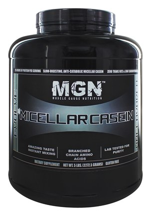 DROPPED: Muscle Gauge Nutrition - Micellar Casein Unflavored - 5 lbs.