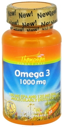 DROPPED: Thompson - Omega 3 1000 mg. - 30 Softgels CLEARANCE PRICED