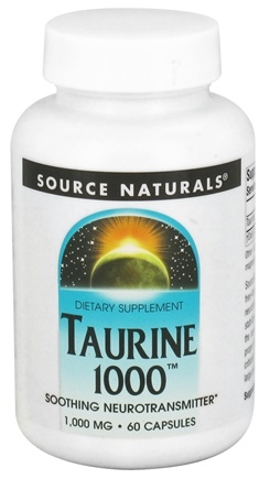 DROPPED: Source Naturals - Taurine 1000 mg. - 60 Capsules CLEARANCE PRICED