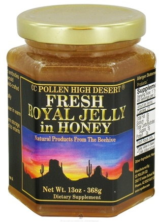 DROPPED: CC Pollen - High Desert Fresh Royal Jelly in Honey - 13 oz. CLEARANCE PRICED