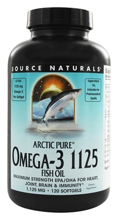 Source Naturals - ArcticPure Omega-3 Fish Oil 1125 mg. - 120 Softgels