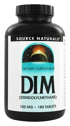 Source Naturals - DIM Diindolylmethane 100 mg. - 180 Tablets