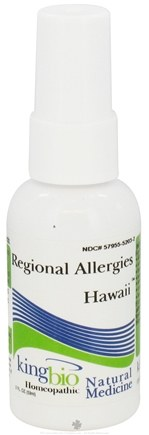 DROPPED: King Bio - Homeopathic Regional Allergies Hawaii Natural Medicine Spray - 2 oz. CLEARANCE PRICED