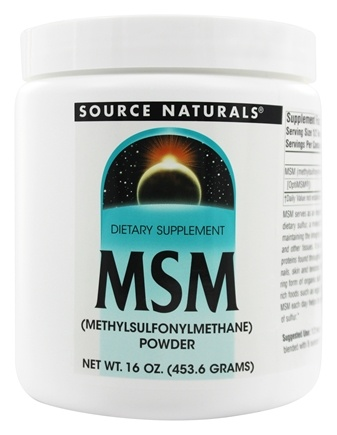 DROPPED: Source Naturals - MSM Methylsulfonylmethane Powder - 16 oz.