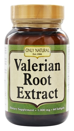 Only Natural - Valerian Root Extract 1000 mg. - 60 Softgels
