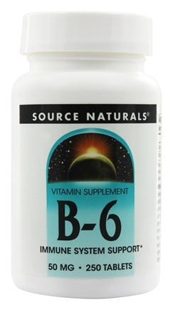 Source Naturals - B6 50 mg. - 250 Tablets