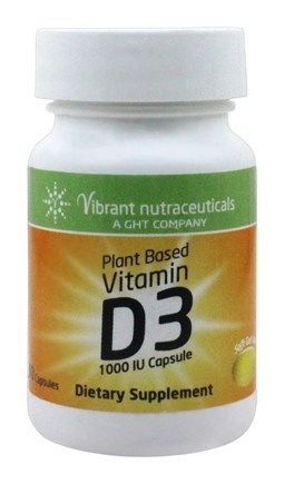 Global Health Trax (GHT) - Vitamin D3 Plant Based 1000 IU - 60 Capsules