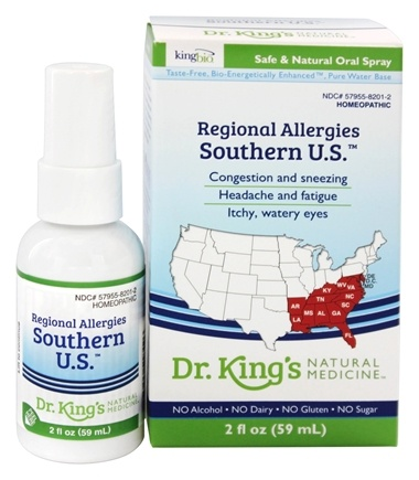 King Bio - Homeopathic Regional Allergies Southern U.S. Natural Medicine Spray - 2 oz.