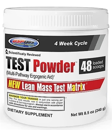 DROPPED: USP Labs - Test Powder Lean Mass Test Matrix Blue Raspberry - 240g - 8.5 oz. CLEARANCE PRICED