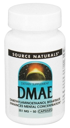 DROPPED: Source Naturals - DMAE 351 mg. - 50 Capsules CLEARANCE PRICED