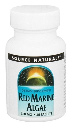 DROPPED: Source Naturals - Red Marine Algae 350 mg. - 45 Tablets CLEARANCE PRICED