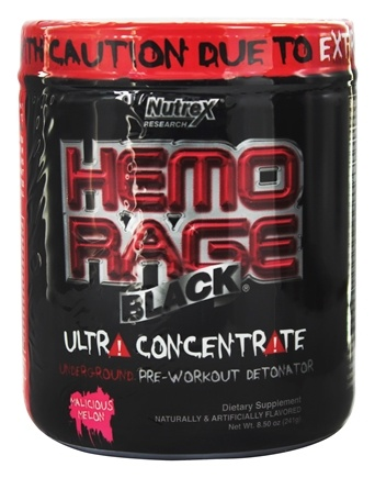DROPPED: Nutrex - Hemo Rage Black Ultra Concentrate Malicious Melon 30 Servings - 9.21 oz. CLEARANCE PRICED