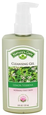 DROPPED: Nature's Gate - Cleansing Gel For Normal To Oily Skin Lemon Verbena - 8 oz.