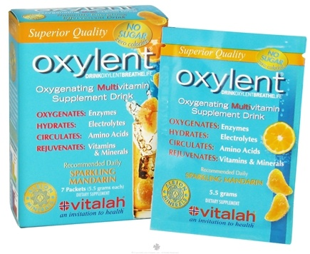 DROPPED: Oxylent - Oxygenating Multivitamin Drink Sparkling Mandarin - 7 Packet(s) CLEARANCE PRICED