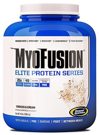 DROPPED: Gaspari Nutrition - MyoFusion Elite Protein Series Cookies & Cream - 4 lbs.