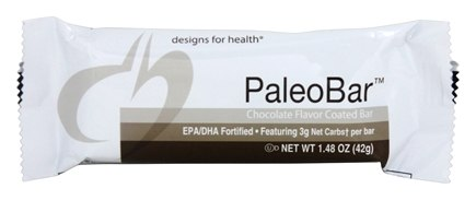 DROPPED: Designs For Health - PaleoBar Chocolate Flavor Coated Bar - 1.48 oz.
