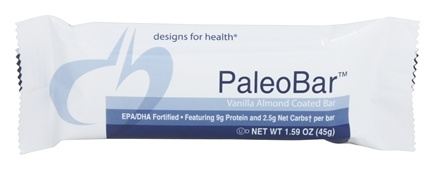 DROPPED: Designs For Health - PaleoBar Vanilla Almond Coated Bar - 1.59 oz.