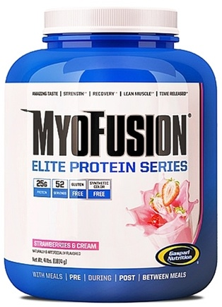 DROPPED: Gaspari Nutrition - MyoFusion Elite Protein Series Strawberries & Cream - 4 lbs.