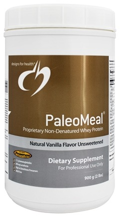DROPPED: Designs For Health - PaleoMeal Unsweetened Natural Vanilla Flavor - 900 Grams