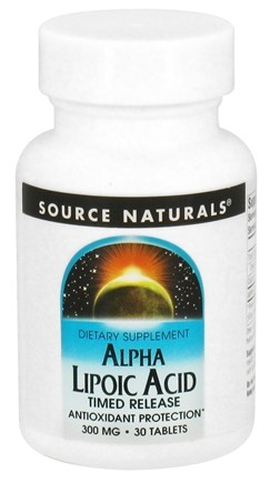 DROPPED: Source Naturals - Alpha Lipoic Acid Timed Release 300 mg. - 30 Tablets CLEARANCE PRICED