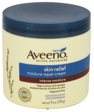 DROPPED: Aveeno - Active Naturals Skin Relief Moisture Repair Cream Intense Moisture Fragrance Free - 11 oz.