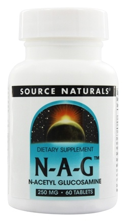 DROPPED: Source Naturals - N-A-G N-Acetyl Glucosamine 250 mg. - 60 Tablets