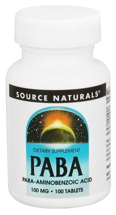 DROPPED: Source Naturals - PABA 100 mg. - 100 Tablets CLEARANCE PRICED