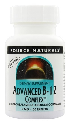 Source Naturals - Advanced B12 Complex Sublingual 5 mg. - 30 Tablets