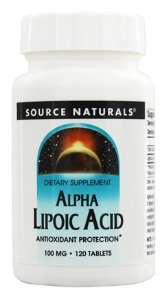 DROPPED: Source Naturals - Alpha Lipoic Acid 100 mg. - 120 Tablets