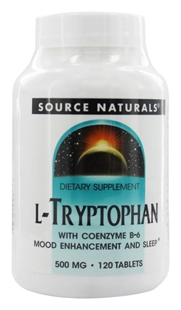 Source Naturals - L-Tryptophan With Coenzyme B-6 500 mg. - 120 Tablets