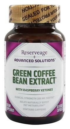 DROPPED: Reserveage Nutrition - Green Coffee Bean Extract 200 mg. - 60 Vegetarian Capsules