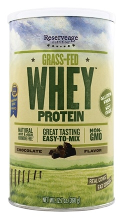 Reserveage Nutrition - Grass-Fed Whey Protein Chocolate - 12.7 oz.