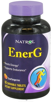 DROPPED: Natrol - EnerG CranTangerine - 60 Chewable Tablets CLEARANCE PRICED