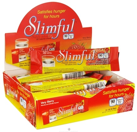 DROPPED: Slimful - Sinfully Delicious 90 Calorie Chew Bar Very Berry - 12 x .92 oz(26g) Bars - CLEARANCE PRICED