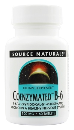 Source Naturals - Coenzymated B6 100 mg. - 60 Tablets