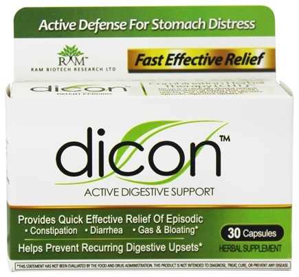 DROPPED: Dicon - Active Digestive Support - 30 Capsules CLEARANCE PRICED