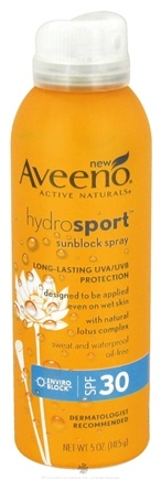 DROPPED: Aveeno - Active Naturals HydroSport Sunblock Spray 30 SPF - 5 oz. CLEARANCE PRICED