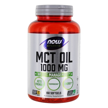 NOW Foods - MCT Oil 1000 mg. - 150 Softgels