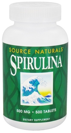 DROPPED: Source Naturals - Spirulina 500 mg. - 500 Tablets