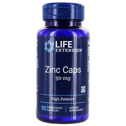 Life Extension - Zinc Caps 50 mg. - 90 Vegetarian Capsules