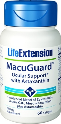 DROPPED: Life Extension - MacuGuard Ocular Support with Astaxanthin - 60 Softgels