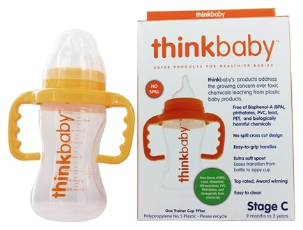 Thinkbaby - Sippy Cup Stage C 9 Months to 2 Years Orange - 9 oz.