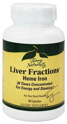 DROPPED: EuroPharma - Terry Naturally Liver Fractions with Natural Heme Iron - 90 Capsules