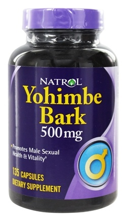 DROPPED: Natrol - Yohimbe Bark 500 mg. - 135 Capsules