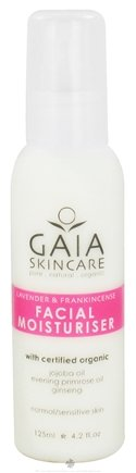 DROPPED: Gaia Skin Naturals - Gaia Skincare Facial Moisturizer Lavender & Frankincense - 4.2 oz. CLEARANCE PRICED