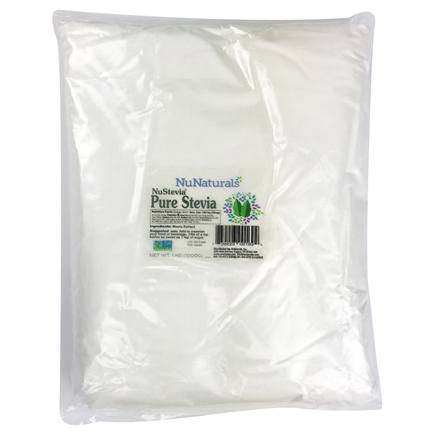 NuNaturals - NuStevia Pure White Stevia Extract Powder - 1 kg.