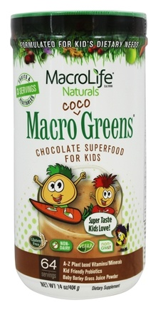 MacroLife Naturals - Macro Coco Greens Superfood for Kids Coco Greens - 14 oz.