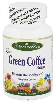 DROPPED: Paradise Herbs - Green Coffee Bean 800 mg. - 60 Vegetarian Capsules